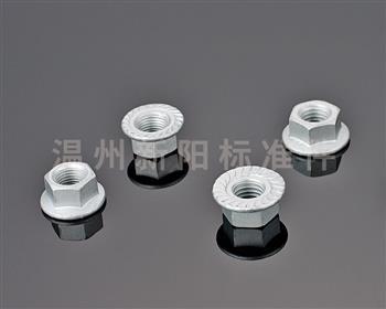 -非标螺母 -达克罗  碳钢8.8级法兰防松螺母 电镀法兰面螺母