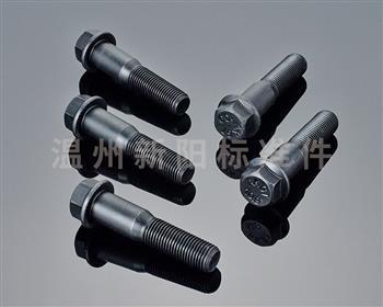-Q184  -Q185 -GB16674 -外六角法兰螺栓 -10.9级-黑色达克罗 半牙非标法兰螺栓