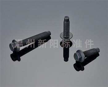 -Q184 -Q185 -GB16674 凹脑半牙加长 -外六角法兰螺栓-8.8级-黑色达克罗