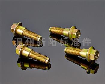 -外六角法兰螺栓-8.8级 -彩锌 -非标螺栓