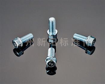 -外六角法兰螺栓-非标螺栓 -8.8级 -环保蓝白