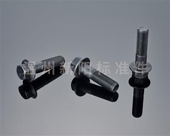 -Q181-Q180--外六角法兰螺栓 -10.9级- 黑色达克罗  花齿法兰螺栓