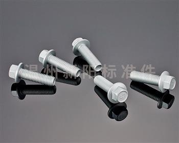 -Q184 -Q185 -GB16674 -外六角法兰螺栓 -8.8级 -银色达克罗的产品展示: