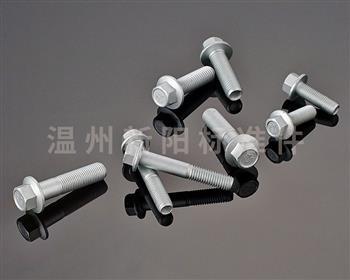 -Q184 -Q185 -GB16674 凹脑半牙加长 -外六角法兰螺栓-10.9级-银色达克罗 凹脑法兰螺栓