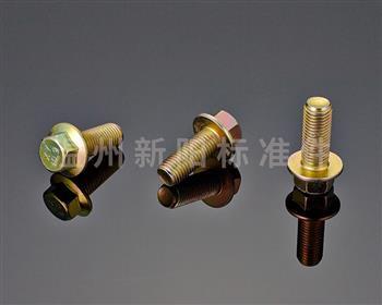 -Q184 -Q185 -GB16674 -外六角法兰螺栓 -彩锌-发黑-黑色达克罗 -8.8级 -10.9级