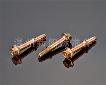 -外六角法兰螺栓 -8.8级- 彩锌-非标螺栓 -排气管法兰螺栓