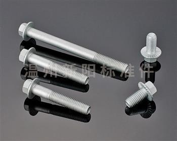 -Q180 -Q181 -Q184  -Q185 -GB16674 -外六角法兰螺栓- 8.8级 -10.9级 -银色达克罗 法兰螺栓