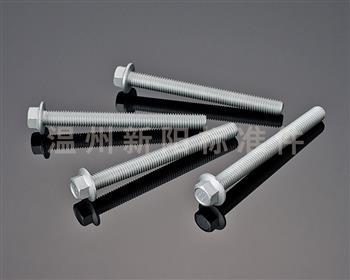 -Q184  -Q185 -GB16674 -外六角法兰螺栓  -10.9级-银色达克罗  凹脑全牙加长法兰螺栓