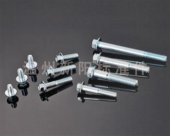 -Q184 -Q185 -GB16674 -外六角法兰螺栓 -8.8级 -蓝白锌