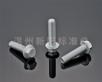 -Q180  -Q181 -外六角法兰螺栓 -银色达克罗 -10.9级 法兰螺栓