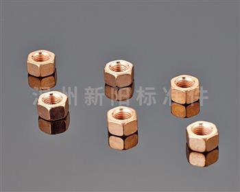 -6187 铁片锁紧 -6187压三点锁紧 -非标螺母  镀铜六角螺母