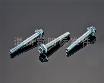 -Q181-Q180-10.9级- 蓝白锌  花齿法兰螺栓花齿蓝白锌法兰螺栓
