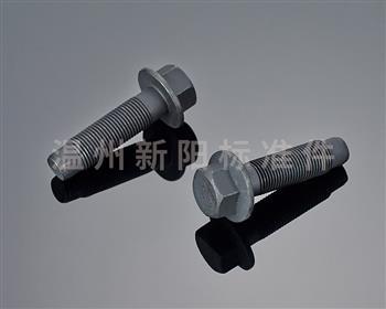 -非标螺栓 -英制螺栓 -黑色达克罗   平脑发黑法兰螺栓 10.9级平脑螺丝六角法兰面螺栓