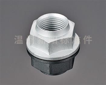 -非标螺母 -达克罗 碳钢8.8级六角螺帽法兰台阶螺母 镀锌台阶螺母